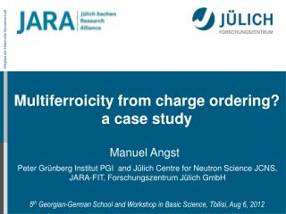 Multiferroicity from charge ordering ? a  case study
