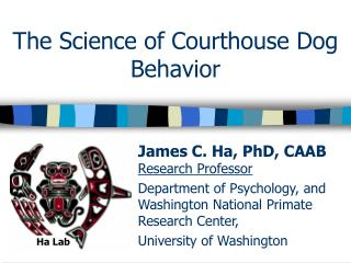 The Science of  Courthouse  Dog Behavior