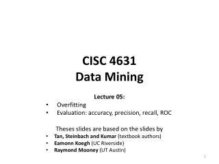 CISC 4631 Data Mining