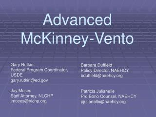 Advanced McKinney-Vento