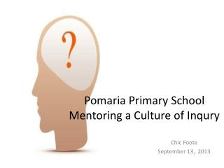 Pomaria  Primary  School Mentoring a Culture of  Inqury