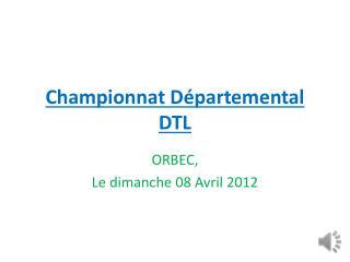 Championnat Départemental DTL