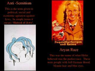 Anti -Semitism