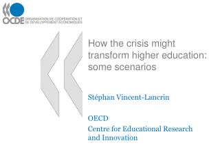 How the crisis might transform higher education: some scenarios
