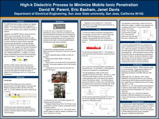 High-k Dielectric Process  to Minimize Mobile Ionic Penetration