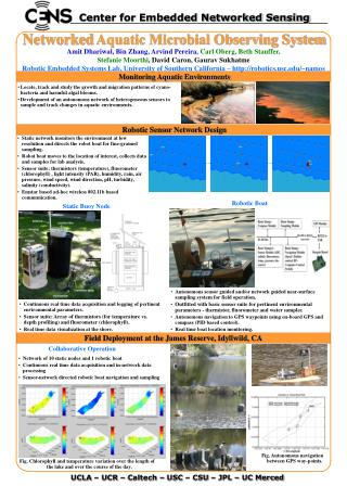 Networked  Aquatic Microbial Observing System