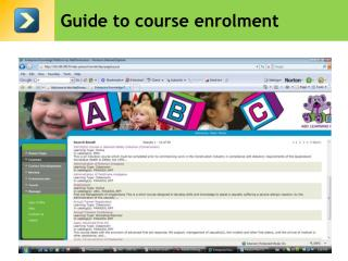 Guide to course enrolment
