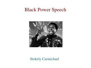 Black Power Speech