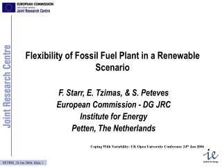 Flexibility of Fossil Fuel Plant in a Renewable Scenario