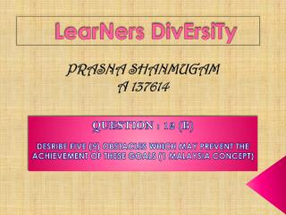 LearNers DivErsiTy