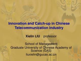 Innovation and Catch-up in Chinese Telecommunication industry