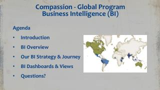 Compassion - Global Program Business Intelligence  ( BI)