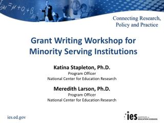 Grant Writing Workshop for Minority Serving Institutions