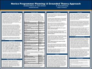 Novice Programmer Planning: A Grounded Theory Approach