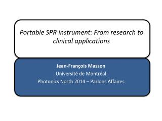 Portable SPR instrument:  From research  to  clinical  applications