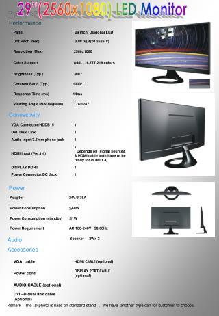 """29""""(2560x1080) LED Monitor"""