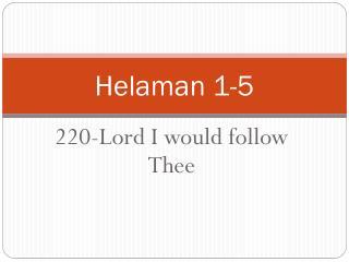 Helaman 1-5