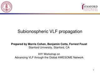 Subionospheric VLF propagation