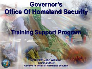 Governor�s  Office Of Homeland Security Training Support Program