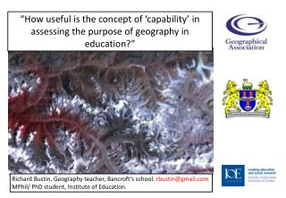 """How useful is the concept of 'capability' in assessing the purpose of geography in education?"""