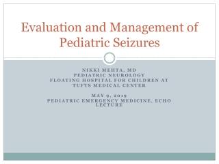Status Epilepticus in Children