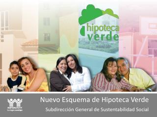 Nuevo Esquema de Hipoteca Verde