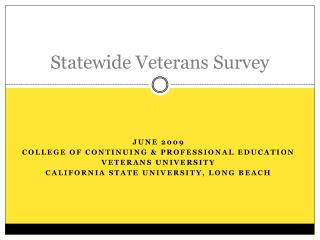 Statewide Veterans Survey