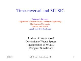 Time-reversal and MUSIC