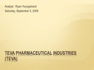 Teva Pharmaceutical Industries (TEVA)
