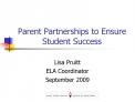 Parent Partnerships to Ensure Student Success