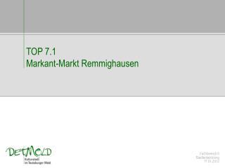 Fachbereich 6 Stadtentwicklung 17.01.2012
