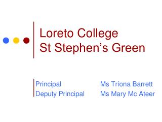 Loreto College St Stephen's Green