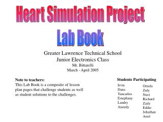 Heart Simulation Project Lab Book