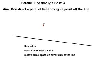 Parallel Line through Point A