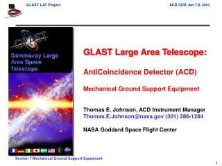 GLAST Large Area Telescope: AntiCoincidence Detector (ACD) Mechanical Ground Support Equipment