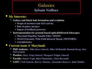Galaxies Sylvain Veilleux