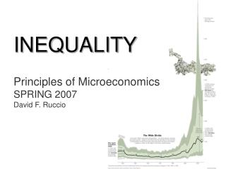 INEQUALITY Principles of Microeconomics SPRING 2007 David F. Ruccio