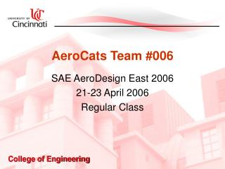 AeroCats Team #006