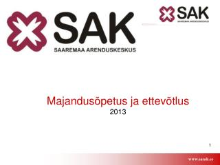 Majandusõpetus ja ettevõtlus 2013