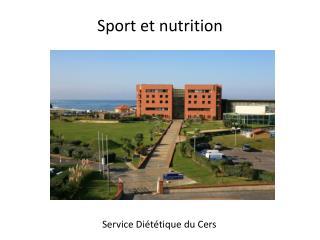 Sport et nutrition