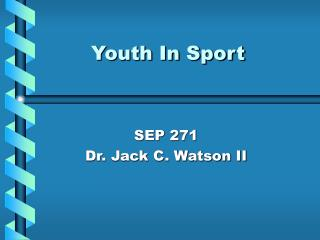 Youth In Sport