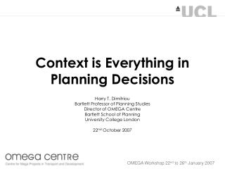 Context is Everything in Planning Decisions