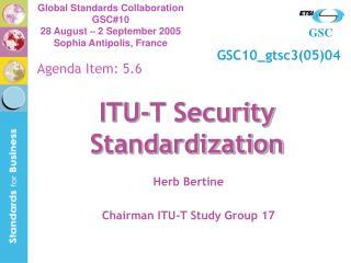 ITU-T Security Standardization