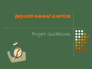 BEYOND CAVEAT EMPTOR