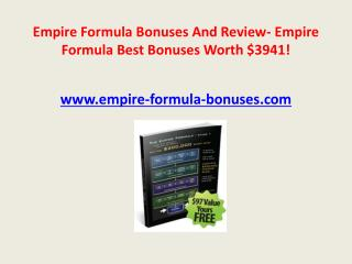 empire formula bonuses (worth $3941) and review