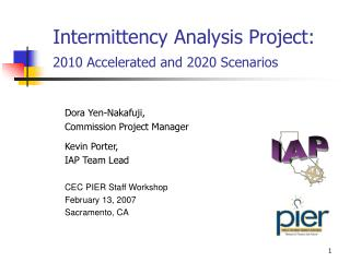 Intermittency Analysis Project: 2010 Accelerated and 2020 Scenarios
