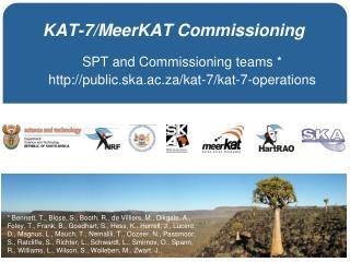 KAT-7/MeerKAT Commissioning