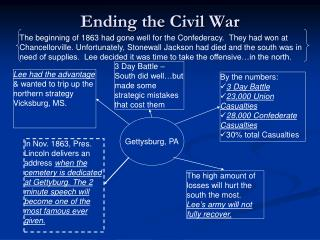 Ending the Civil War