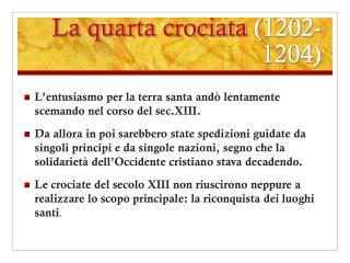 La quarta crociata  (1202-1204)