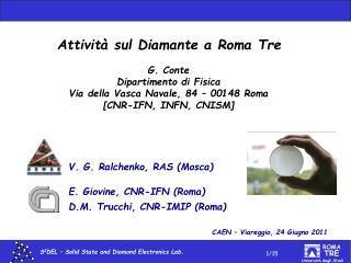 Attività sul Diamante a Roma Tre